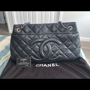 Authentic Chanel CC large tote bag